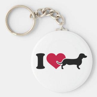 I love Dachshunds Key Chains