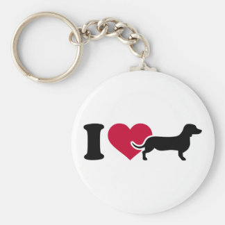 I love Dachshunds Key Ring