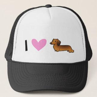 I Love Dachshunds (longhaired) Trucker Hat