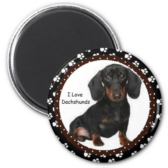 I love Dachshunds  Magnet