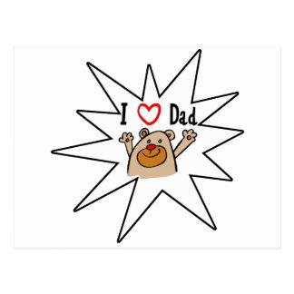 I love Dad bear Post Card