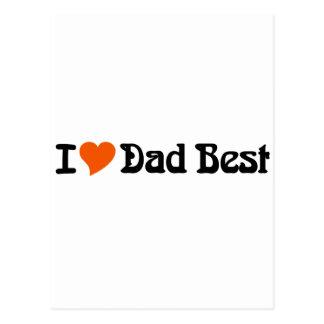 I Love Dad Best Postcard