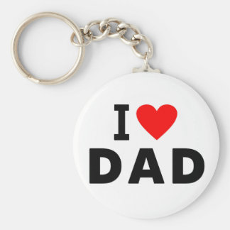 i love dad heart daddy text message father symbol basic round button key ring