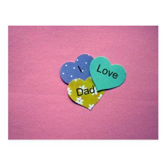 I love Dad! Postcard