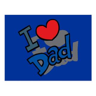I love Dad - Postcard