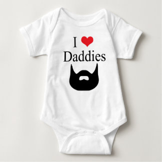 I Love Daddies Beard Baby Bodysuit