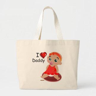 I Love Daddy Baby Girl Jumbo Tote Bag