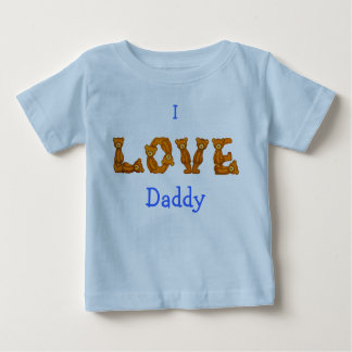 I Love Daddy Baby Shirt~Teddy Bear Alphabet Letter Baby T-Shirt