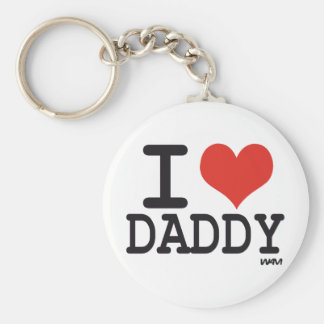 I love daddy basic round button key ring