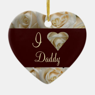 I Love Daddy Keepsake Ceramic Heart Decoration