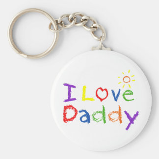 I Love Daddy Key Ring