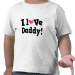 I Love Daddy Pink Heart Tshirt