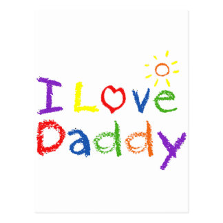 I Love Daddy Postcard