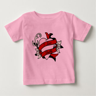 I love Daddy tattoo heart baby infant tee
