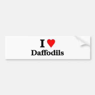 I love daffodils bumper sticker