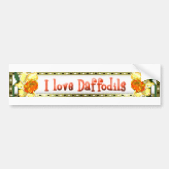 I love daffodils bumper sticker