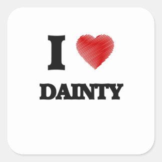 I love Dainty Square Sticker