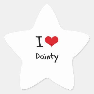 I Love Dainty Stickers