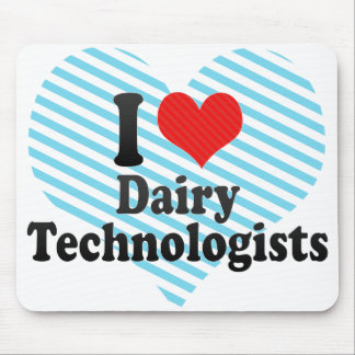 I Love Dairy Technologists Mousepads