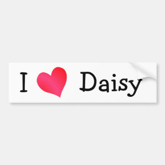 I Love Daisy Bumper Sticker