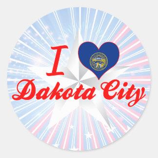 I Love Dakota City, Nebraska Stickers