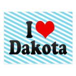 I love Dakota Postcard