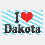 I love Dakota Rectangle Stickers