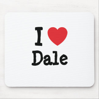 I love Dale heart custom personalized Mouse Mats