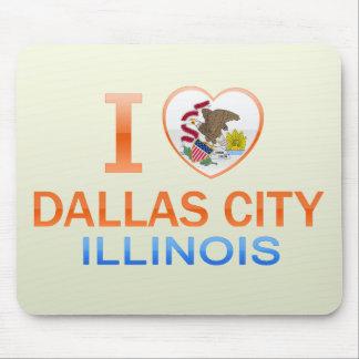 I Love Dallas City, IL Mousepads