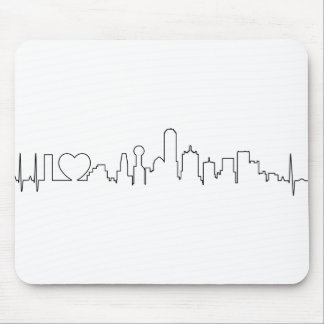 I love Dallas in an extraordinary ecg style Mouse Pads