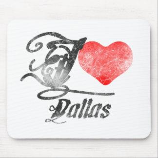 I Love Dallas Mousepads