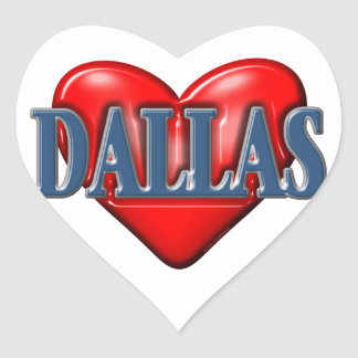 I love Dallas Texas Heart Sticker