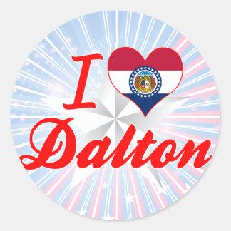 I Love Dalton, Missouri Round Stickers