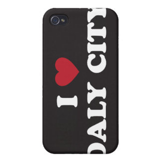 I Love Daly City California iPhone 4 Cases