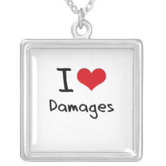 I Love Damages Personalized Necklace