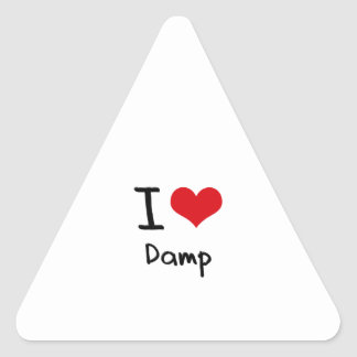 I Love Damp Triangle Sticker
