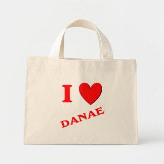 I Love Danae Canvas Bags