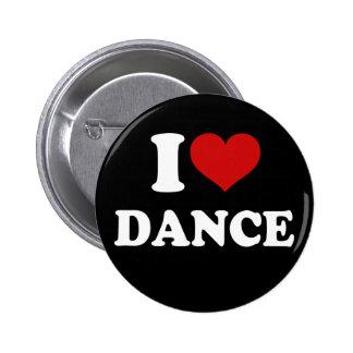 I Love Dance Pinback Buttons