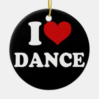 I Love Dance Christmas Ornament