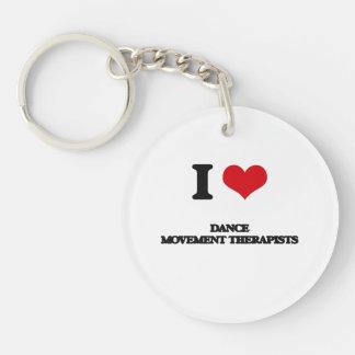 I love Dance Movement Therapists Acrylic Keychain