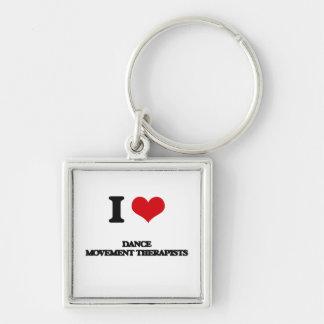 I love Dance Movement Therapists Key Chain