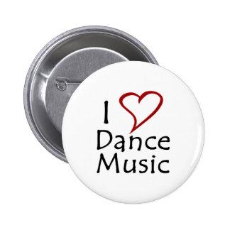 I Love Dance Music 6 Cm Round Badge
