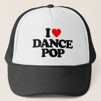 I LOVE DANCE POP TRUCKER HAT