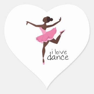 I Love Dance Heart Sticker