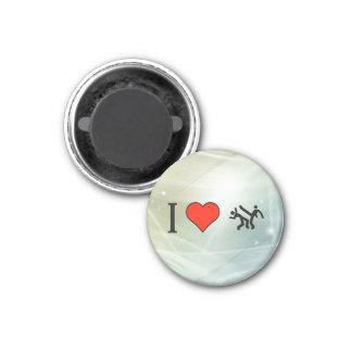 I Love Dancing 3 Cm Round Magnet