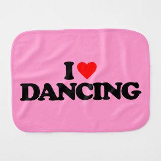I LOVE DANCING BURP CLOTH