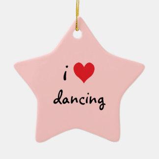 I Love Dancing Christmas Ornament