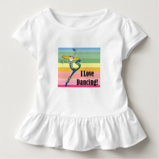 I love dancing little girls ruffled shirt