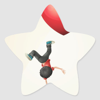I love dancing star sticker