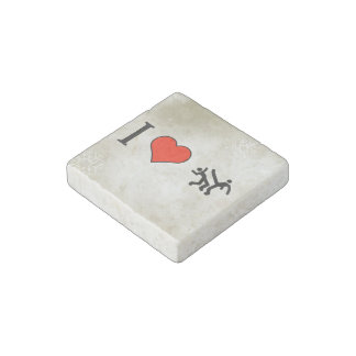 I Love Dancing Stone Magnet